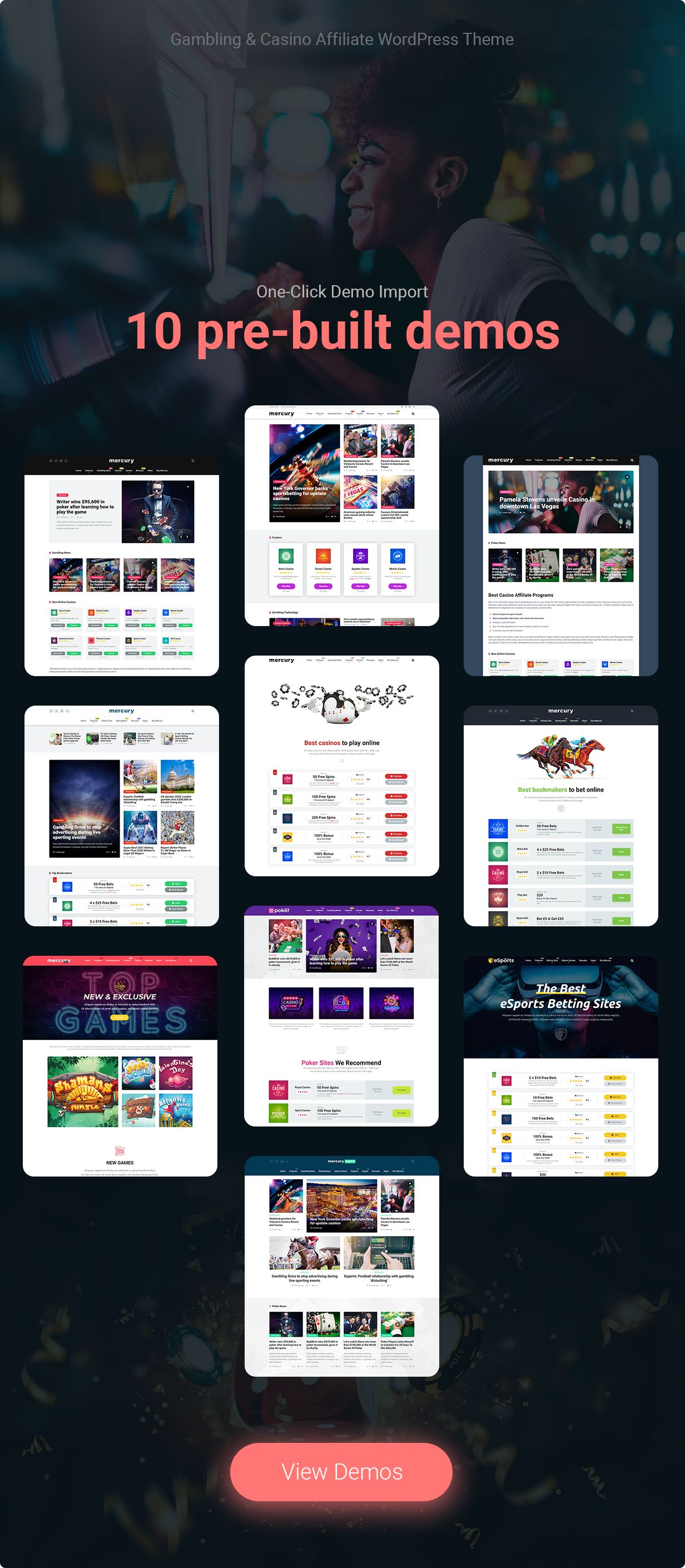 Casino Affiliate WordPress Theme