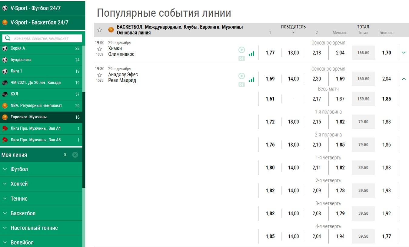 евролига в лига ставок ру
